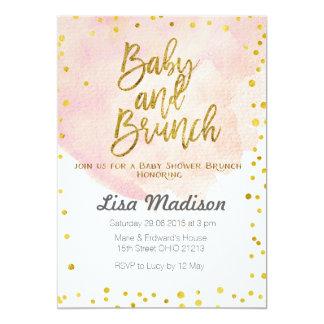 Peach Baby Shower Brunch Invitation