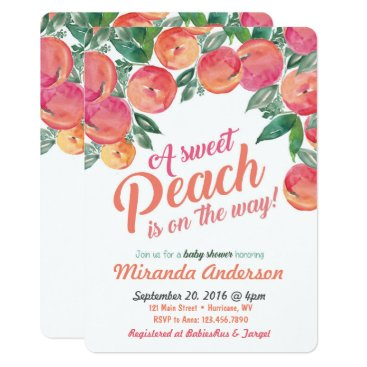 Toddler & Baby themed Peach Baby Shower Invitation