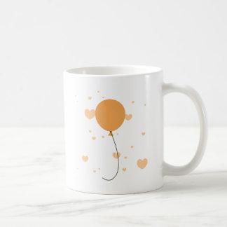 Peach Balloon & Hearts Coffee Mug