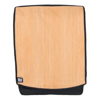 Peach Bamboo Wood Grain Look Backpack