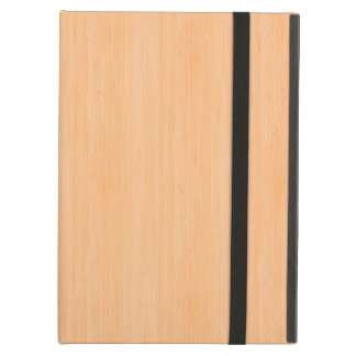 Peach Bamboo Wood Grain Look Case For iPad Air