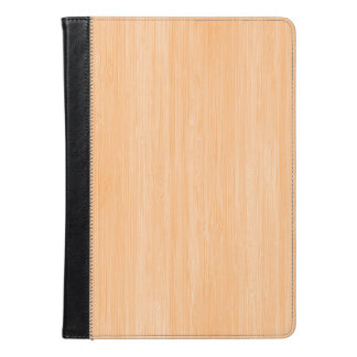 Peach Bamboo Wood Grain Look iPad Air Case
