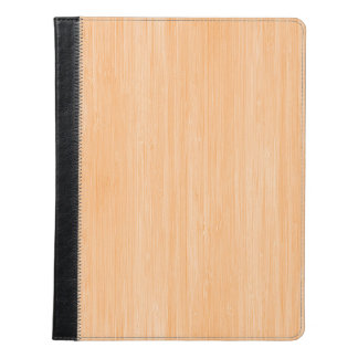 Peach Bamboo Wood Grain Look iPad Case