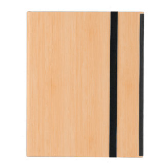 Peach Bamboo Wood Grain Look iPad Folio Case