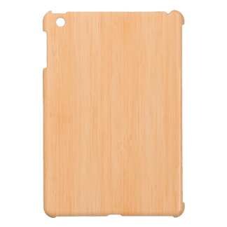 Peach Bamboo Wood Grain Look iPad Mini Cases