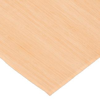 Peach Bamboo Wood Grain Look Short Table Runner