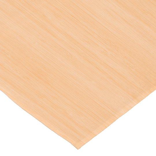 Peach Bamboo Wood Grain Look Short Table Runner Zazzle Com