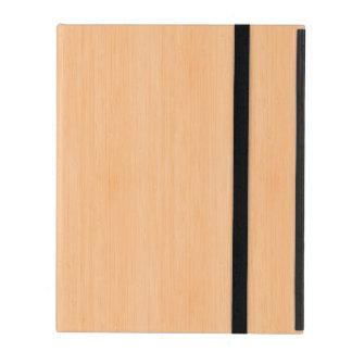 Peach Bamboo Wood Look iPad Cover
