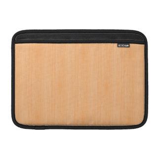 Peach Bamboo Wood Look MacBook Sleeves