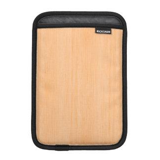 Peach Bamboo Wood Look iPad Mini Sleeve