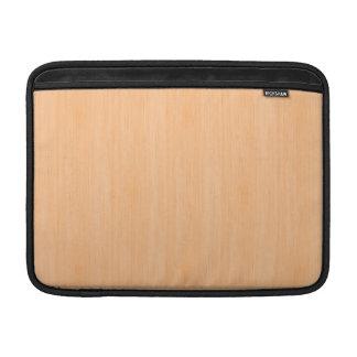 Peach Bamboo Wood Look MacBook Air Sleeves