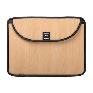 Peach Bamboo Wood Look Sleeves For MacBooks