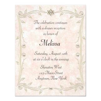 Peach Bat Mizvah Reception Card