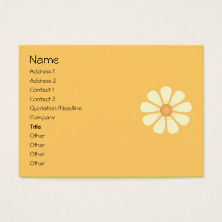 Peach Bicycle and Daisy Business Card