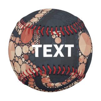 Peach Black Bling Abstract Baseball