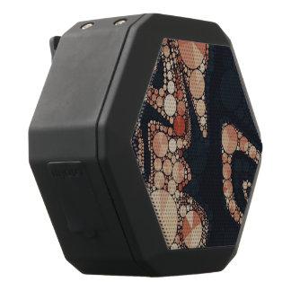 Peach Black Bling Abstract Black Bluetooth Speaker