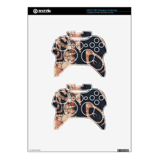 Peach Black Bling Abstract Xbox 360 Controller Skins
