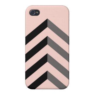 Peach & Black Chevron iPhone 4/4S Case. iPhone 4/4S Cases