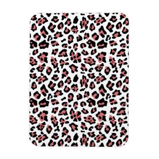 Peach Black Leopard Animal Print Pattern Rectangle Magnet