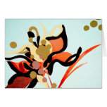 Peach Blooms Over Blue Greeting Card