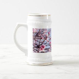 Peach Blossom Blowout Beer Stein