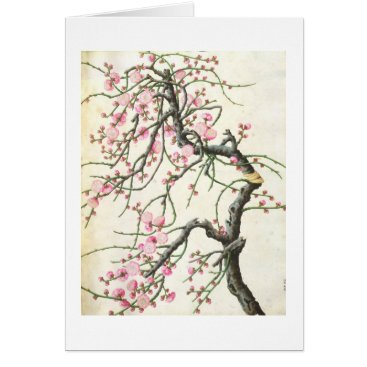 Beach Themed Peach blossom (colour on paper) card