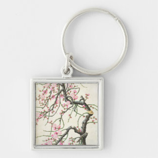 Peach blossom (colour on paper) keychain