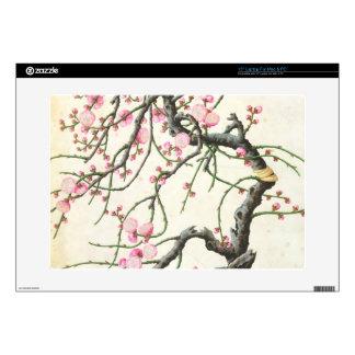 Peach blossom (colour on paper) laptop skin