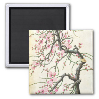Peach blossom colour on paper magnets