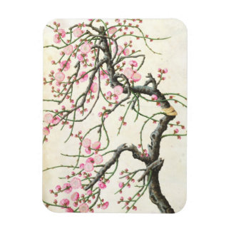 Peach blossom (colour on paper) magnet