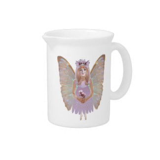 Peach Blossom Fairy Drink Pitcher