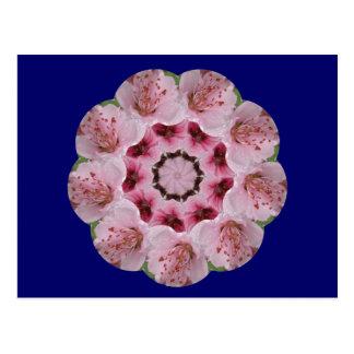 Peach Blossom Mandala Postcard