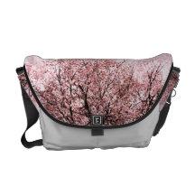 Peach blossom messenger bag