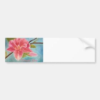 Peach Blossom Original Painting Bumper Sticker