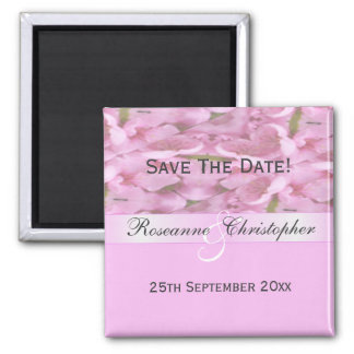 Peach Blossom Pink Save The Date Refrigerator Magnets