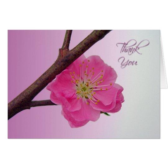 Peach Blossom Thank You Card