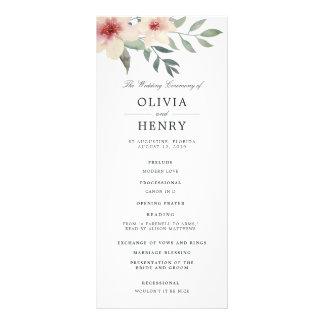 Peach Blossom Wedding Ceremony Program
