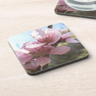 Peach Blossoms Beverage Coaster