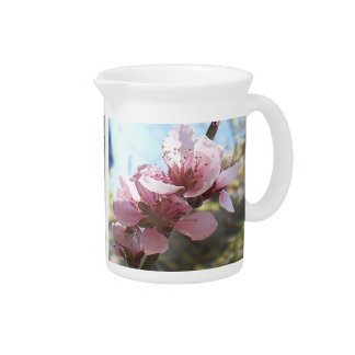 Peach Blossoms Drink Pitcher
