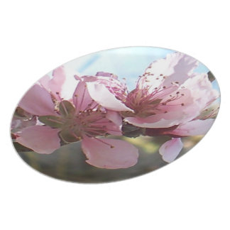 Peach Blossoms Melamine Plate