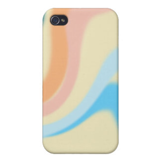peach blue and pink texture iPhone 4/4S cover
