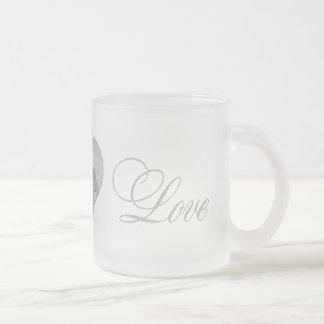 Peach & Blue Cranes Long & Happy Marriage Mug