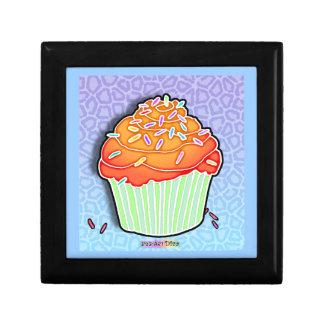 Peach & Blue Pop Art Cupcake Gift Box