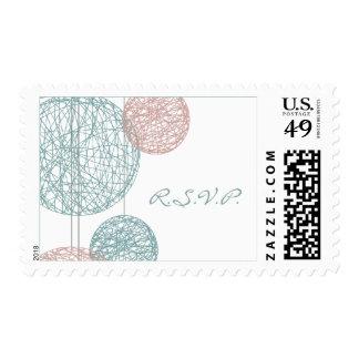 Peach & Blue Twine Globes R.S.V.P. Postage Stamp