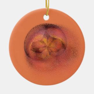 peach blur ceramic ornament