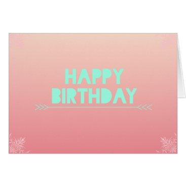 Aztec Themed Peach Blush Birthday Card