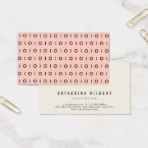 Peach Blush Pink Black 01 Pattern Business Card