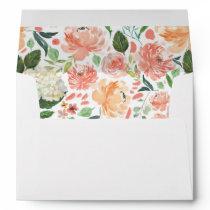 Peach Blush Watercolor Floral Envelope