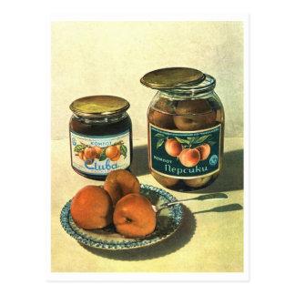 Peach Bocal Soviet poster postacard Postcard