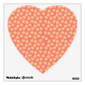 Peach Boho Hearts Decal